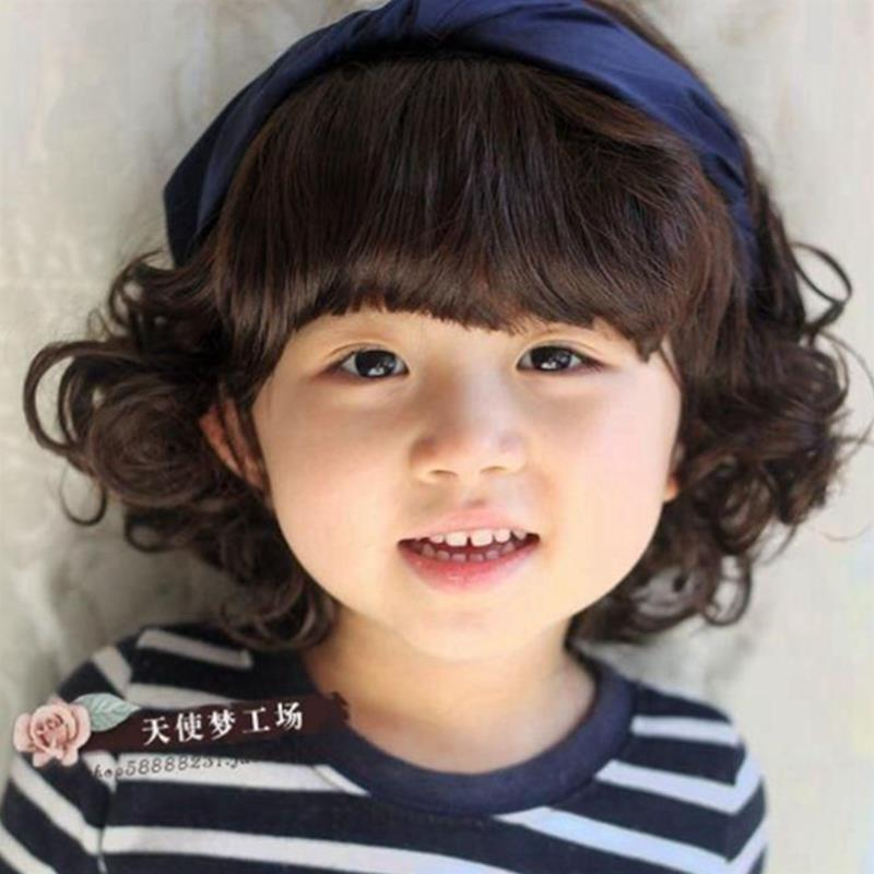 2015 Baby Girl Boy Curly Wigs Cute Short Haircuts Wig For Kid Deti