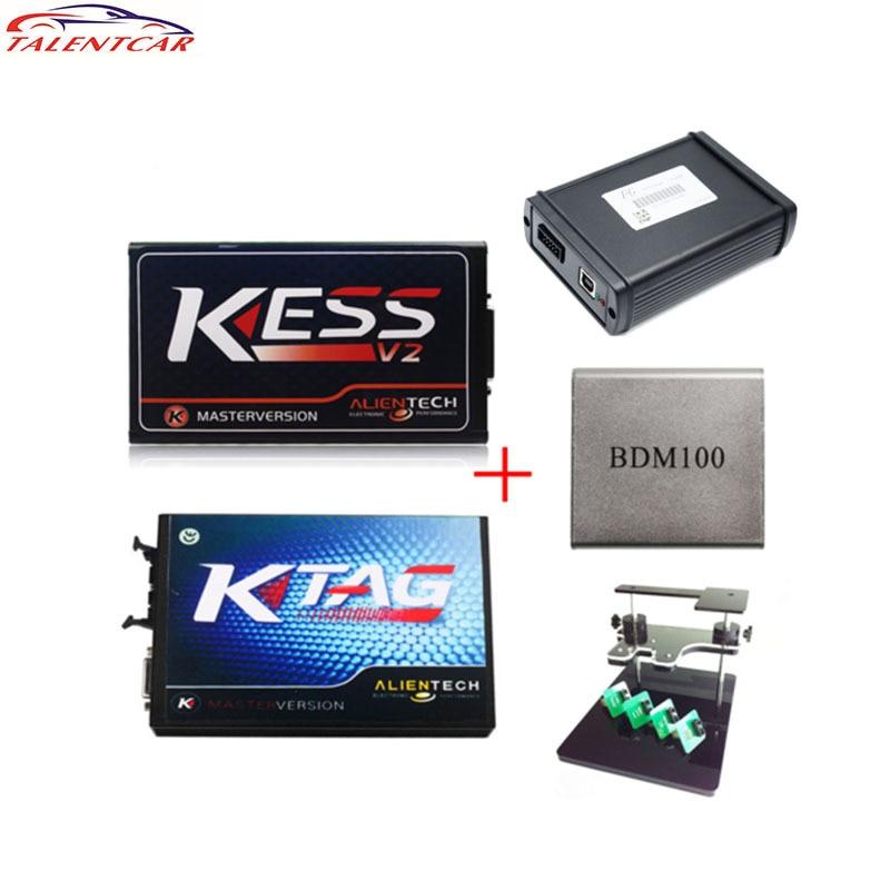 2017 Kess 2 V4.036 OBD2 Kit de réglage de gestionnaire Ktag V6.070 BDM100 ECU programmeur FGTECH Galletto 4 V54 bdm cadre avec adaptateur Kess V2