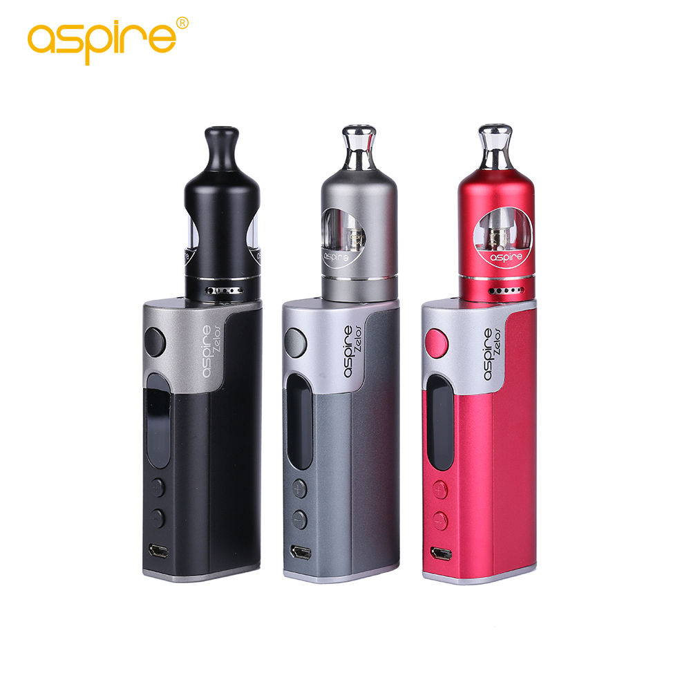 aspire Zelos 50W Kit Electronic Cigarette Kit Nautilus 2 Vape Tank 2ML Vaporizer E Cigarettes 2500mah Battery Vape Mod e cig Kit