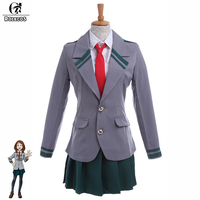 ROLECOS Japanese Anime My Hero Academia Cosplay Costume Asui Tsuyu Boku no Hero Academia Ochako Uraraka Uniform Cosplay Costume