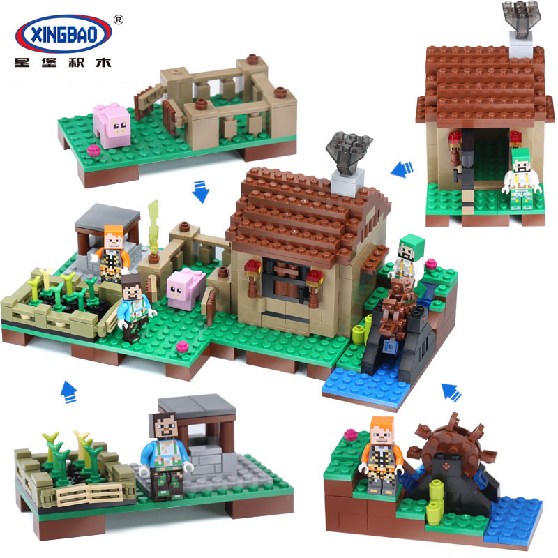 Xingbao 09002 Creative MOC Series The Blocks Life Set Building Blocks Bricks Boy Educational legoinglys Toys For Children Gifts xingbao 01001 creative chinese style the chinese silk and satin store 2787pcs set educational building blocks bricks toys model