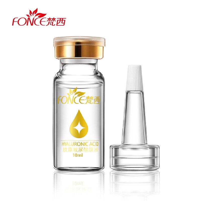 Fonce mujeres frotis ácido hialurónico suero reafirmante facial hidratante tono brillante líquido Anti-envejecimiento para blanquear la piel cuidado de la cara