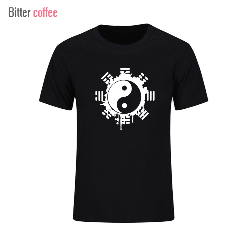 2017 Fashion Zomer T-shirt Mannen Tops Chinese Tai Chi Inkt Ying Yang - Herenkleding
