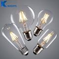 Edison Lâmpada do vintage LEVOU E27 E14 watt Real de 2 W 4 W 6 W 8 W LED Filament Luz CONDUZIU a Lâmpada do Bulbo 220 V Vela Retro Do Vintage luz