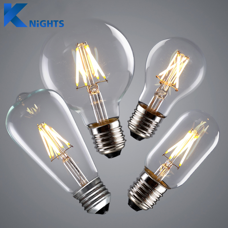 vintage led edison bulb e27 e14 real watt 2w 4w 6w 8w led filament light vintage led bulb lamp. Black Bedroom Furniture Sets. Home Design Ideas