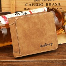 2017 New Arrival Fashion Men Wallet 3 Colour Gray Blue Coffee Synthetic Pu Leather High Quality Credit Card Holder Purse Wallet