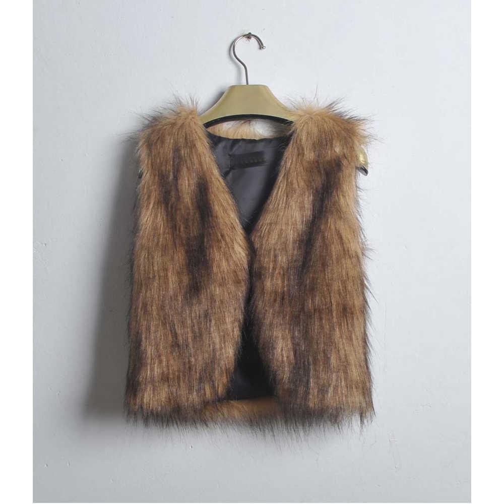 Freier Ostrich Winter Kurze Faux Pelz Weste Frauen Strickjacke Sleeveless Pelzigen Warme Oberbekleidung Mantel Übergroßen Tops chaleco mujer N30