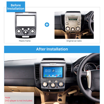 Harfey 2 Din Panel Trim Kit OEM Frame for 2006-2010 Ford Everest Ford Ranger Dash Bezel Car GPS Autoradio Stereo Installation image