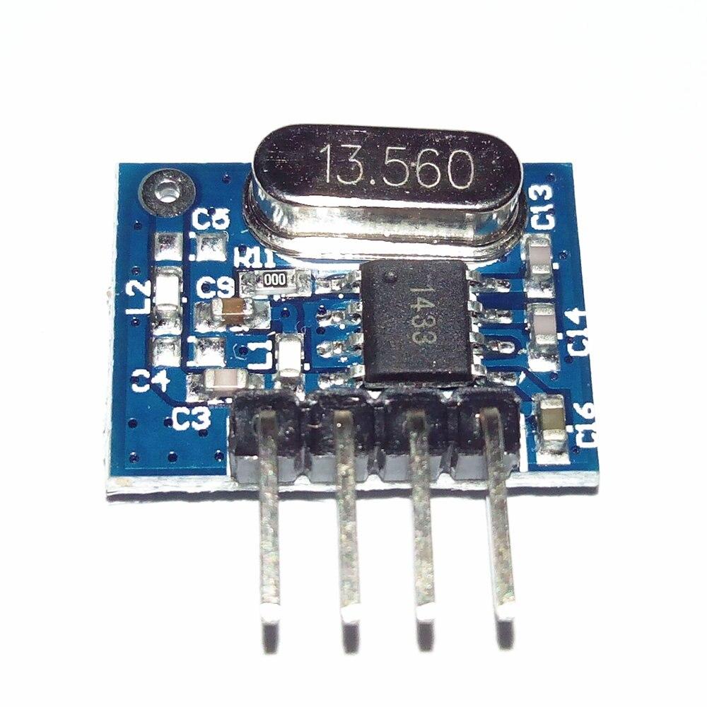 1piece superheterodyne 433mhz RF Wireless Transmitter Module Small Size Low Power for remote control adruino diy kit