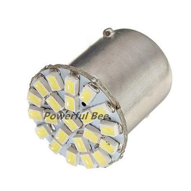 50 x 1156 P21W ba15s 22SMD 3W cold white LED DC12V moto car tail lights reverse brake bulb, free shipping