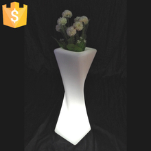 Reachargeable Led Bar Flower Pots Glowing Planter Vase PE Material Battery Operated Free shipping 2pcs/Lot