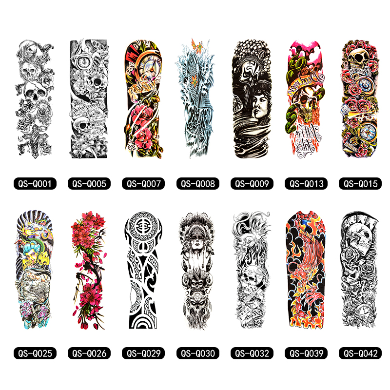 Temporary Tattoo Sleeve Designs Full Arm Waterproof Tattoos For Cool Men Women Transferable Tattoos Stickers On The Body Art willett m 1000 tattoos a sourcebook of designs for body decoration