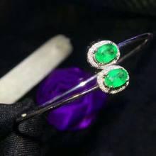 Shilovem Стерлинговое Серебро 925 пробы настоящий зеленый изумруд