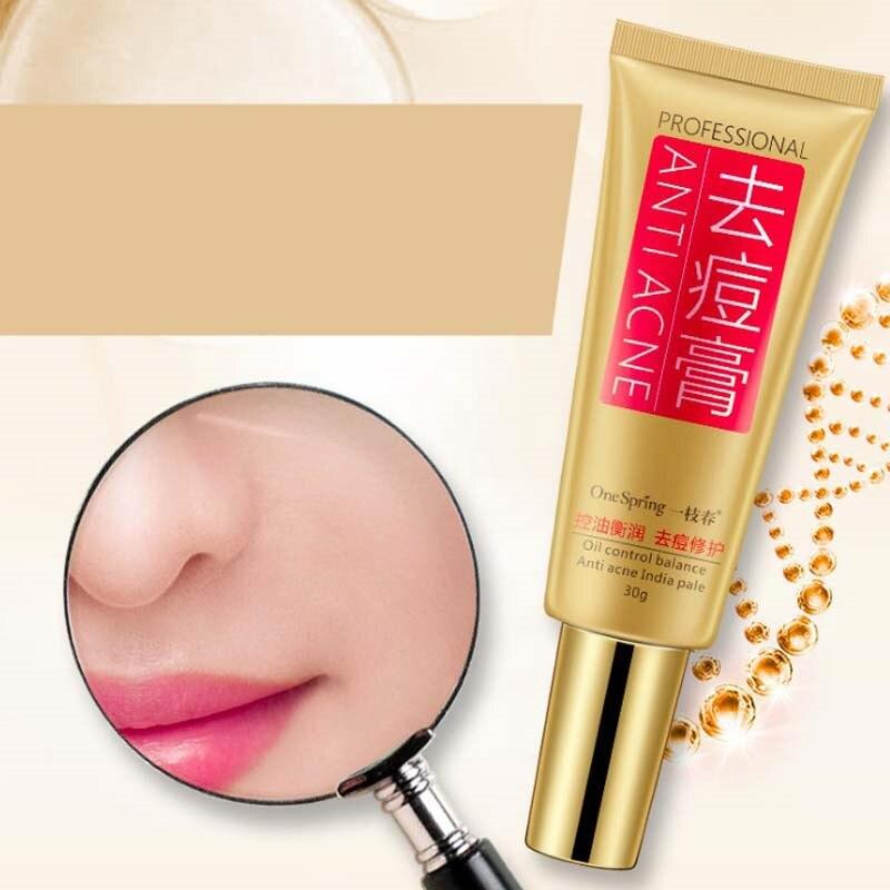 12Pcs Skin font b Care b font Anti Acne Cream Oil Control Shrink Pores Acne Scar
