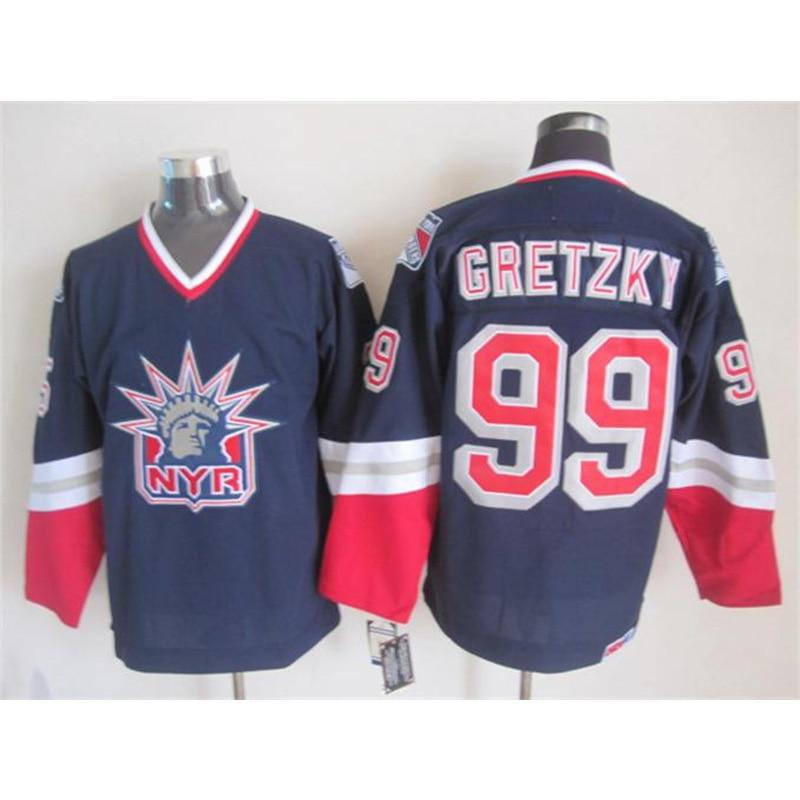 купить Mens Retro Wayne Gretzky Stitched Name&Number Throwback Hockey Jerseys по цене 2081.23 рублей