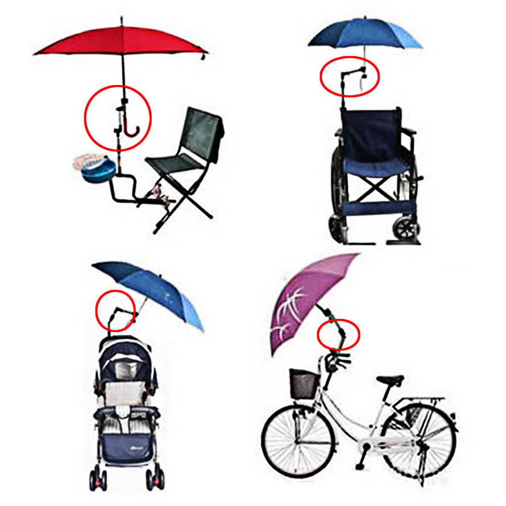 Adjustable Mount Stand Baby Stroller Accessories Baby Stroller Umbrella Holder Multiused Wheelchair Parasol Shelf Bike Connector