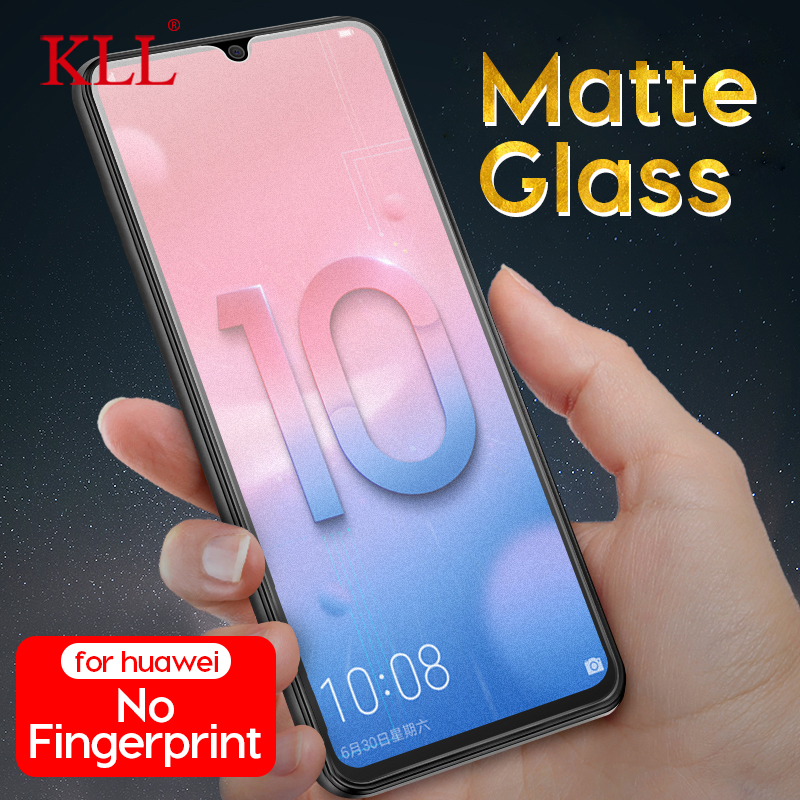 No Fingerprint Matte Tempered Glass For Huawei Honor 10 Lite 8X Max Play 8A View 10 Screen Protector For Huawei Enjoy 9 Y9 2019