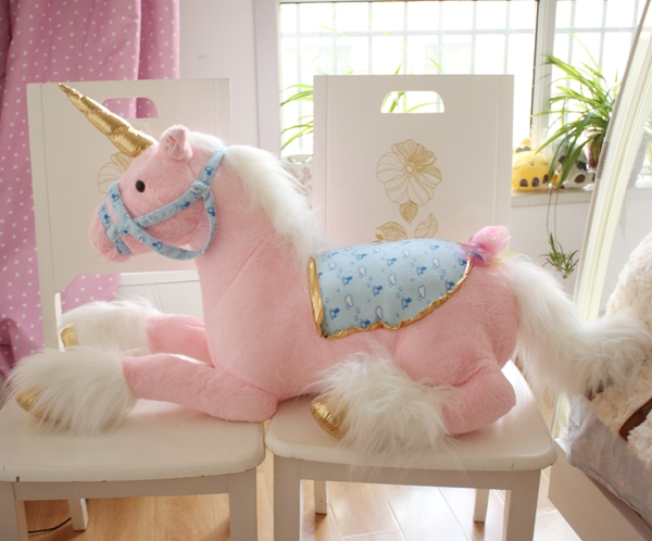 stuffed plush animal <font><b>85cm</b></font> pink horse plush toy <font><b>doll</b></font> children's favorite gift s8968 image