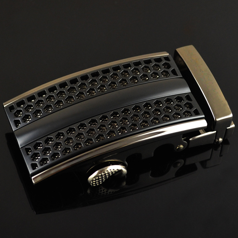New Genuine Men's Belt Head, Belt Buckle Leisure Belt Head Business Accessories Automatic Buckle Width 3.5CM No Belt LY125-0639