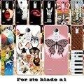 Tpu silicone macio telefone covers cases para zte blade a1 c880a Casos C880U C880S C880 5 polegada Pintado Escudo Durable Shell de volta cobrir