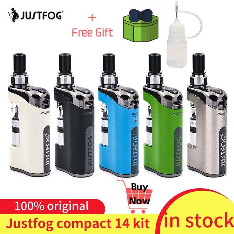 En stock!!! JustFog Compact 14 Kit 1500mah batterie intégrée e-cig Kit de vaporisateur avec 1.2ohm/1.6ohm Q14 Kit de Vape de réservoir Clearomizer