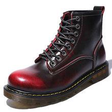 0095726aecc8f6 Haute qualité mode baskets en cuir véritable hommes bottes chaussures  automne épais talon mâle chaussures décontractées