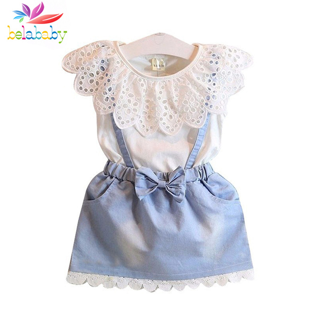 36c1f5878187 Belababy Summer Girl Dress Summer 2017 Children Sleeveless Princess ...