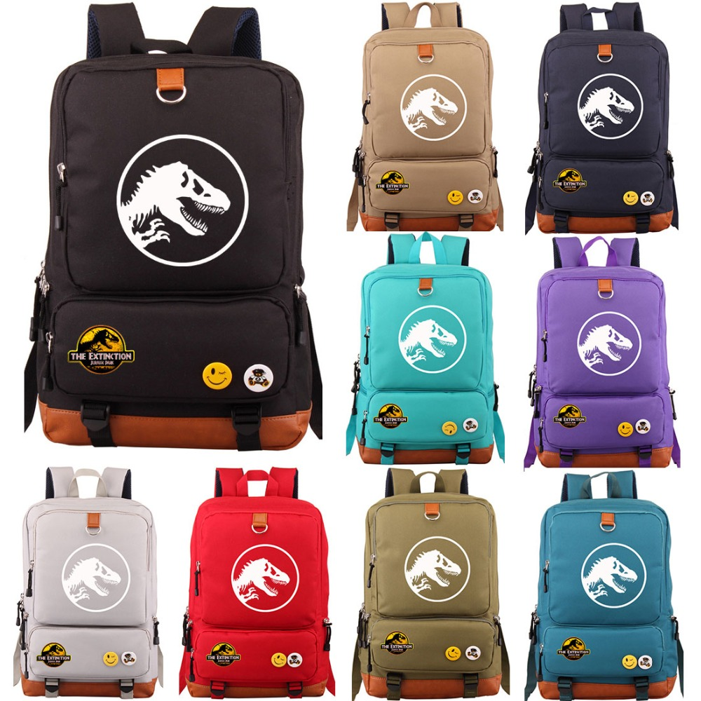 Multicolor Jurassic Dinosaur Skull Skeleton Boy Girl School bag Women Bagpack Teenagers Schoolbags Canvas Men Student BackpackMulticolor Jurassic Dinosaur Skull Skeleton Boy Girl School bag Women Bagpack Teenagers Schoolbags Canvas Men Student Backpack