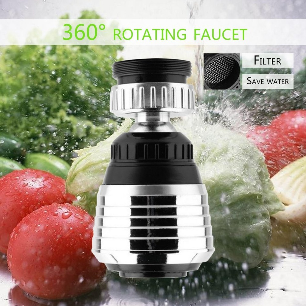 Water Filter 360 Rotate Faucet Nozzle Faucet Saver Tap Aerator Kitchen Sprayer Head Water Saving Taps Bathroom Kitchen