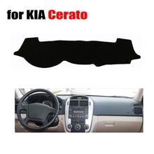 Приборной панели автомобиля Обложка Коврик для Kia Cerato 2006-2015 лет левым dashmat Pad тире охватывает приборной панели авто аксессуары