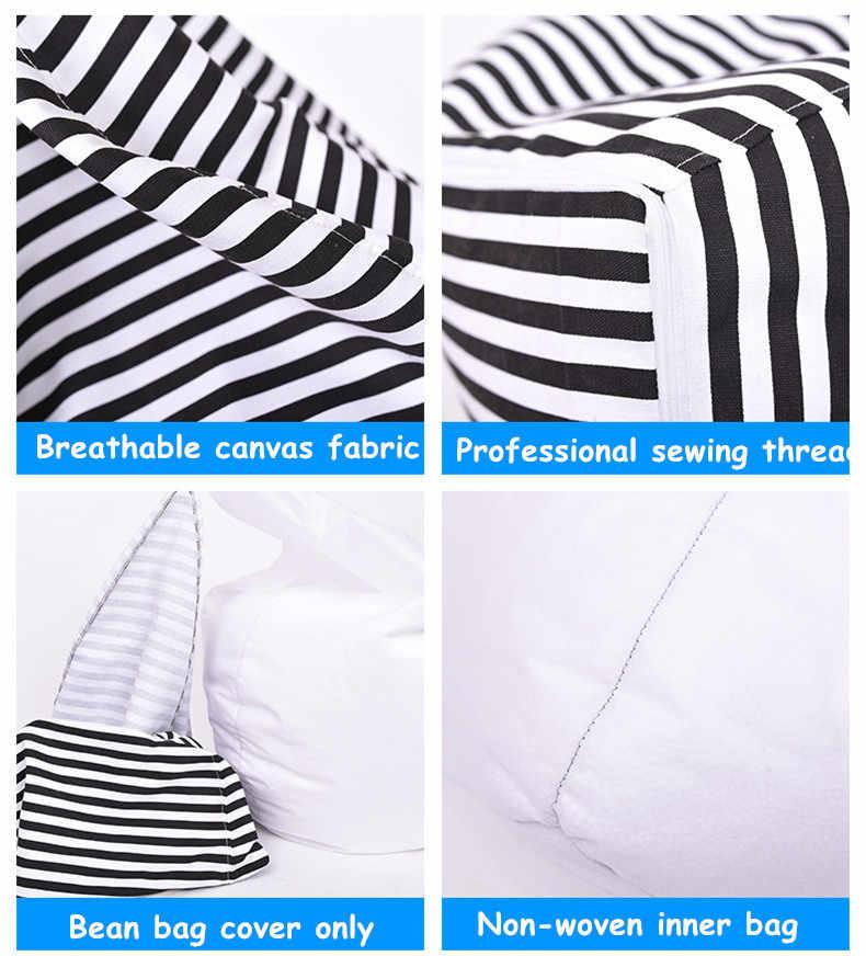 Beanbag диван лежак Bean сумки стул, гостиная спальня Sitzac просто Beanbag крышка без наполнителя ленивый диван крышка 1 шт.