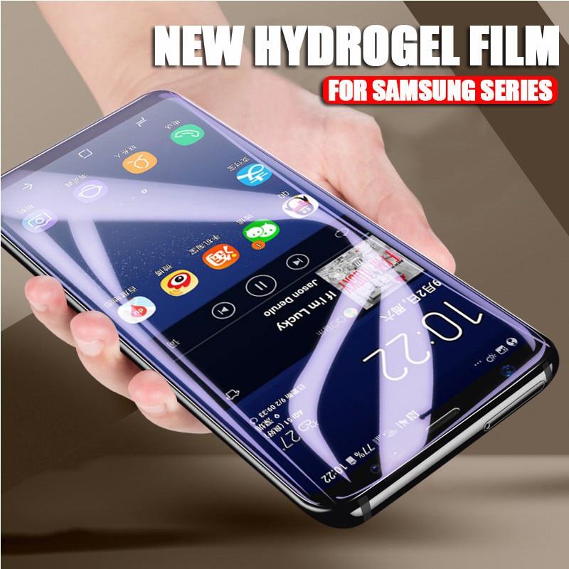 3D pełna pokrywa miękkie hydrożelowe Film do Samsung Galaxy S10 S8 S9 A8 Plus S7 krawędzi uwaga 9 8 A9 s10 Plus Lite 5G folia ochronna na ekran 21