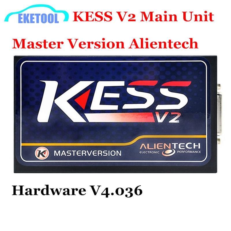 Цена за Высокое Качество KESS V2 Мастер Версия Основной Блок OBD2 Менеджер ECU Чип-Тюнинг Программист Инструмент HW4.036 SW2.32 KESS Основной Блок продажа