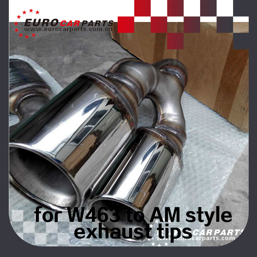 W463 Exhaust Tips Fit For Mb G Cl To G63 G65 4 Stainless Steel Material In Lers From Automobiles