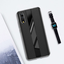For Huawei P30 Pro Case Luxury Genuine Leather For Huawei P20 Pro Case Porsche Soft TPU Business P20 Cover P30 Case Slim for huawei p20 pro magnetic smart genuine leather flip case 3d crocodile texture luxury business cover for huawei p20 pro case