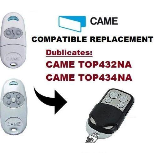 CAME TOP432NA / TOP434NA Garage Door/Gate Remote Control Replacement/Duplicator 433.92 Mhz cloning remote:
