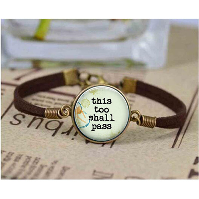 Unique Bracelet This Too Shall P Inspirational Quote Bracelets Jewelry Bangle