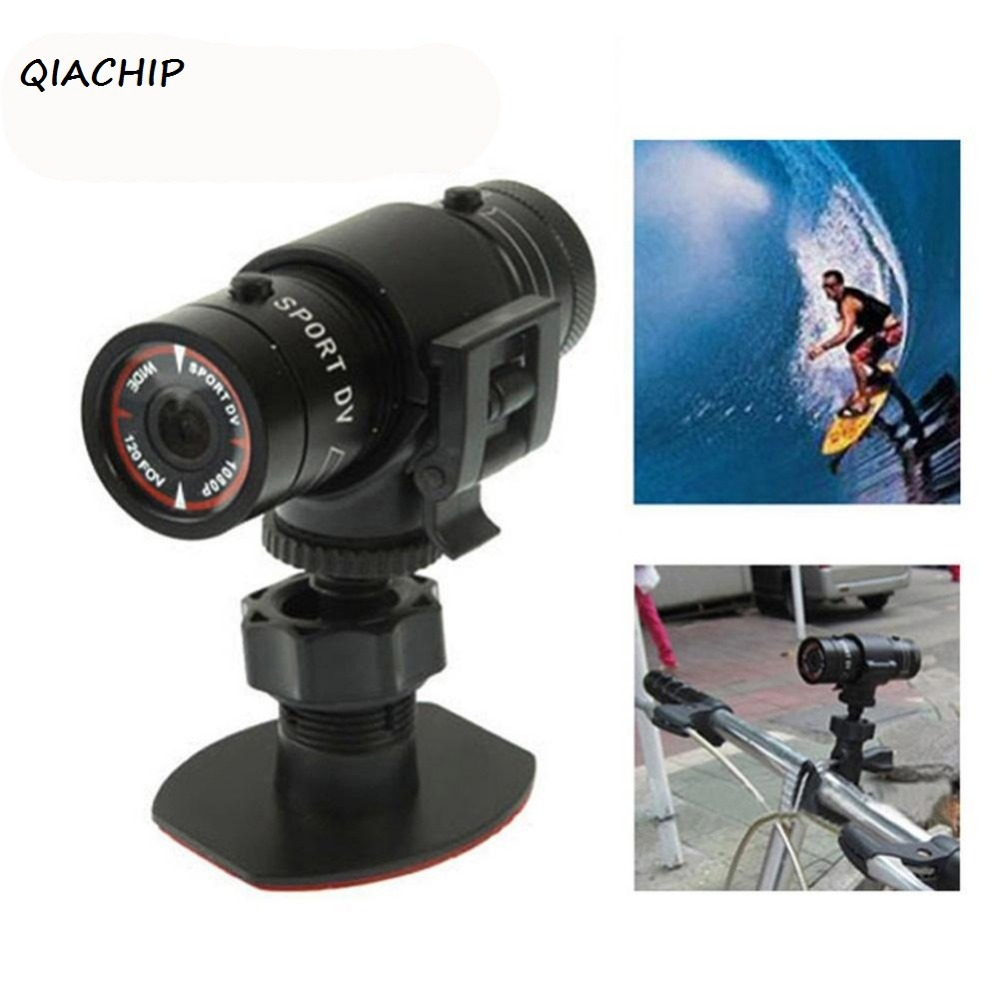 QIACHIP F9 sports DV waterproof mini camera FULL HD 1080P bicycle Helmet Camera mini DVR Sport CAM CMOS sport micro Camcorder H2 original drift stealth 2 action camera motorcycle bike go bicycle pro helmet sport dv camera wifi mini camcorder smart moto dvr