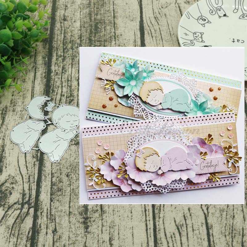 Metal cutting dies Sleeping baby  New 2018 Craft Stamps die Cut Embossing Card Making Stencil Frame