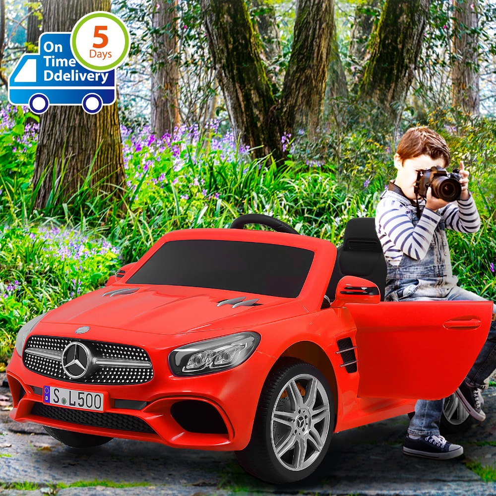 Uenjoy 12V Licensed Mercedes-Benz SL500 Kids Ride On Car Single Seat Electric Cars For Kids W/Remote Control & Music & Spring
