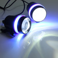 2 PCS 12V 30W Motorcycle Gree U3 LED Driving Fog Spot Head light Angel Eye Lamp