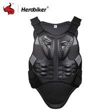 HEROBIKER Motocross Racing Armure Noir Moto D'équitation Veste de Protection Du Corps Avec Une Bande Réfléchissante Moto Armure