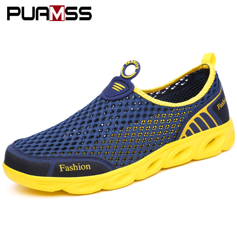 Mesh Shoes Sandals Sneakers Fashion Outdoor Breathable Summer Light Beach Vacation Zapatos-De-Hombre