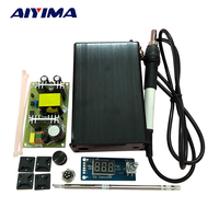 T12 Soldering Stations Digital Tube DC12 24V Seconds Tin Electric Soldering Irons Automatic Back Temperature Sleep