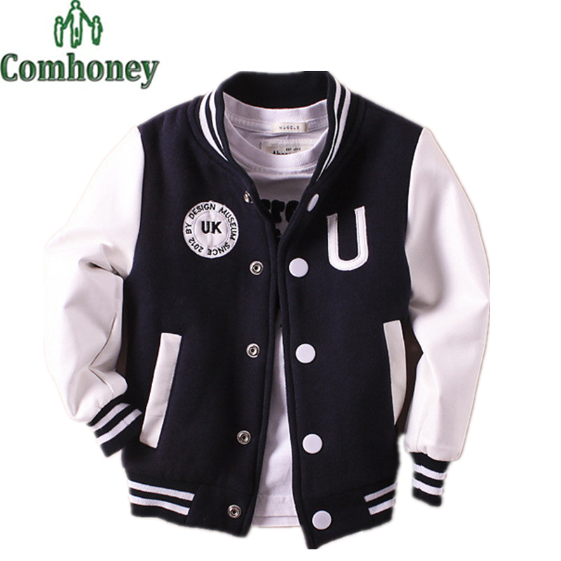 Kids Baseball Jacket Baby Boys Bomber Jacket Football Jersey Girl Windbreaker Baby Outwear Spring Autumn School