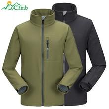 LoClimb Impermeável Softshell Blusão Militar Do Exército Dos Homens de  Trekking Camping Caminhadas Casacos de Inverno cc403c32e15c0