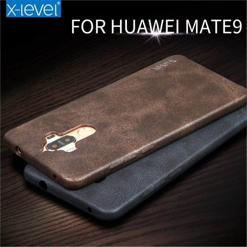 X-nivel de lujo de la pu leather case para huawei mate 9 teléfono móvil accesori