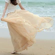 Женская Длинная пляжная юбка сарафан в богемном стиле из фатина