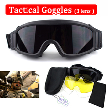 Military Airsoft Paintball Sport Safety Glasses Tactical Goggles 3 Lens Men Hunting Shooting Glasses UV400 Protection Eyewear стоимость