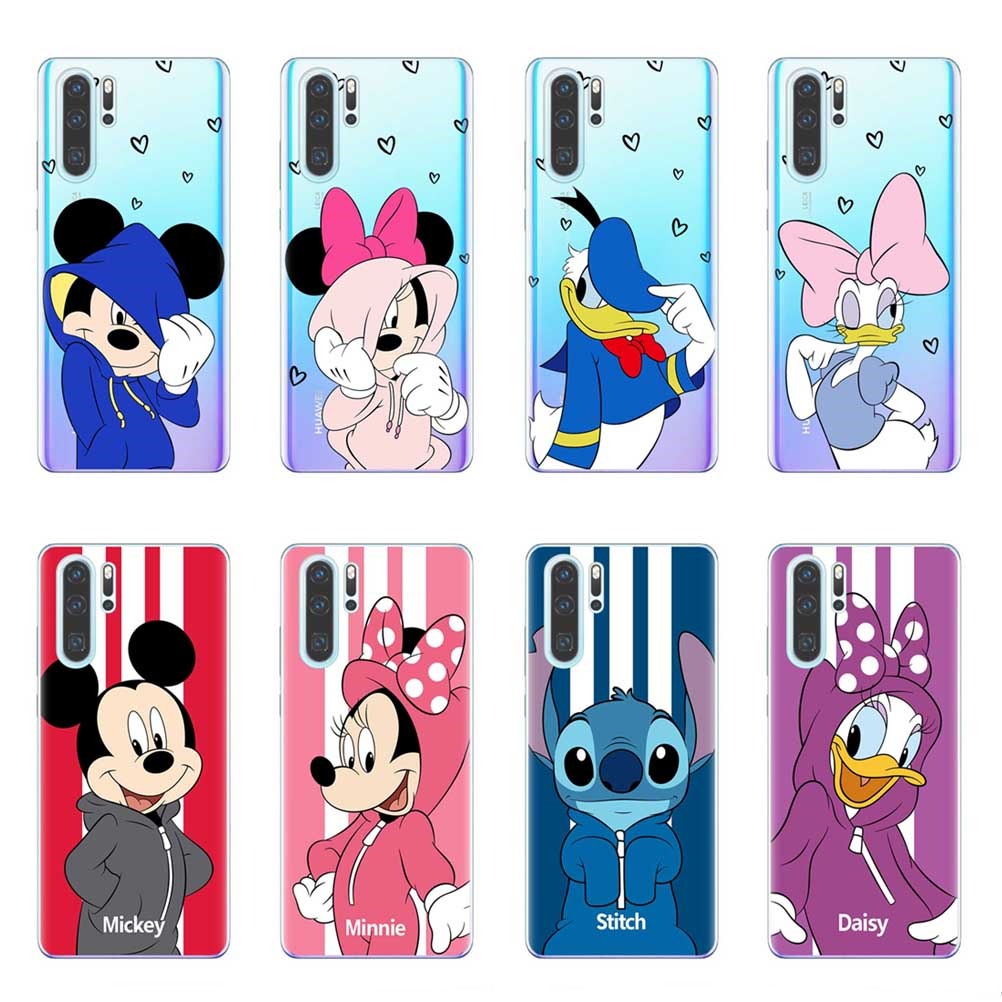 Mickey Minnie Case For Fundas Huawei P30 P20 Pro <font><b>Lite</b></font> P10 P9 P8 <font><b>Lite</b></font> 2017 Mate 10 20 <font><b>Lite</b></font> Pro <font><b>Honor</b></font> <font><b>9</b></font> 10 <font><b>Lite</b></font> TPU Cover <font><b>Bumper</b></font> image